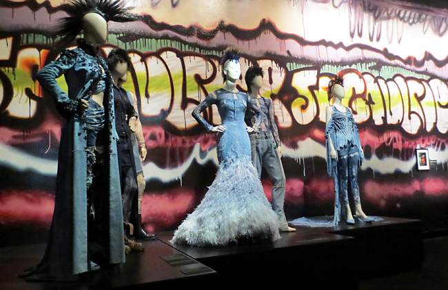 Punk mannequins from Gaultier exhibit brooklyn