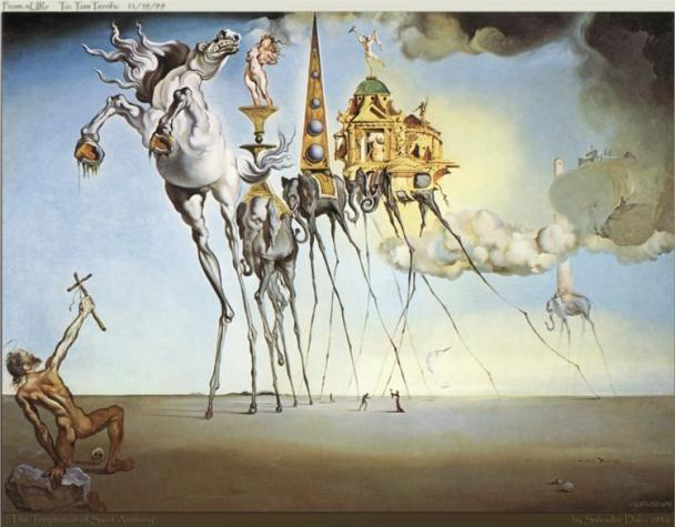 Salvador Dali Temptation of Anthony