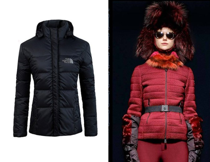 North Face jacket and Moncler Grenoble