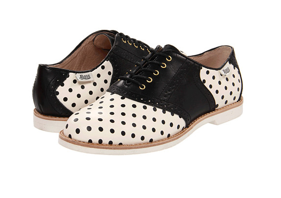 Bass Polka Dot saddle shoes