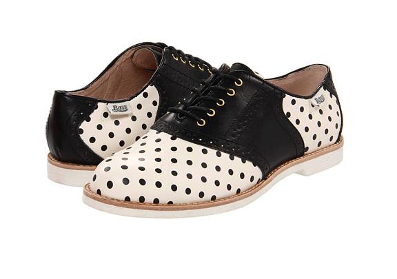 Bass Polka Dot saddle shoes