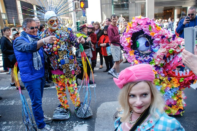 colorful costumes at the NY Easter Hat parade 2014