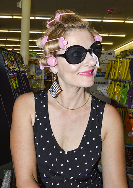 Magda wearing cheap sunglasses