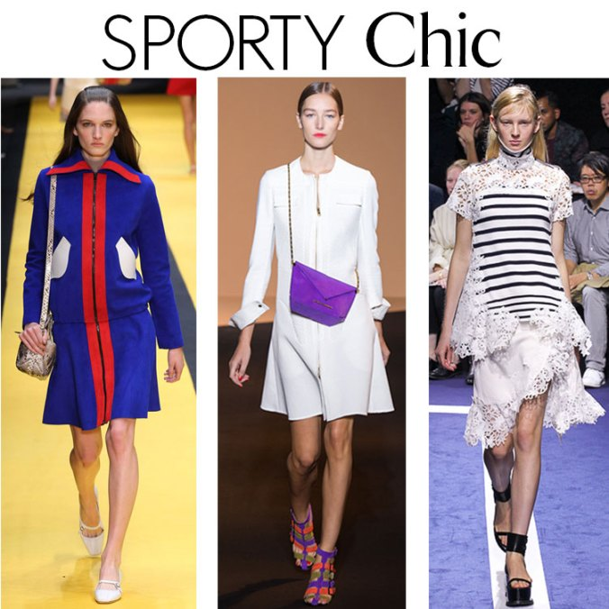 Sporty chic looks from the Paris Fashion Week shows for Spring 2015
