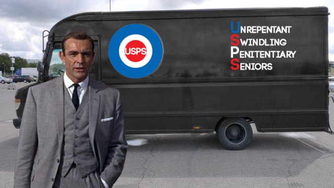 Newest postal delivery system starring James Bond