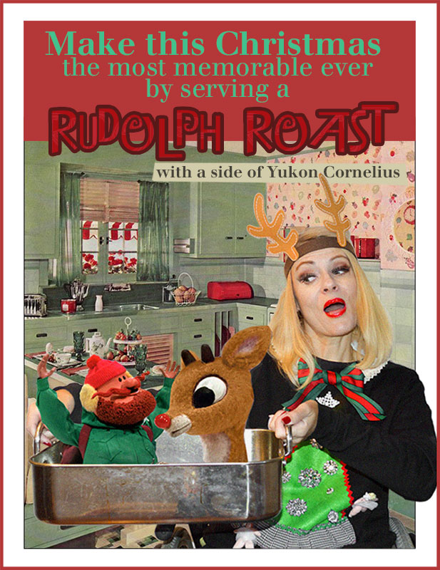 Roasting Rudolph the Red Nosed Reindeer in a DIY Ugly Christmas Sweater