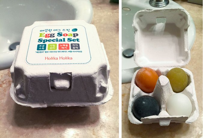 Holika Egg soaps from Korea for the face