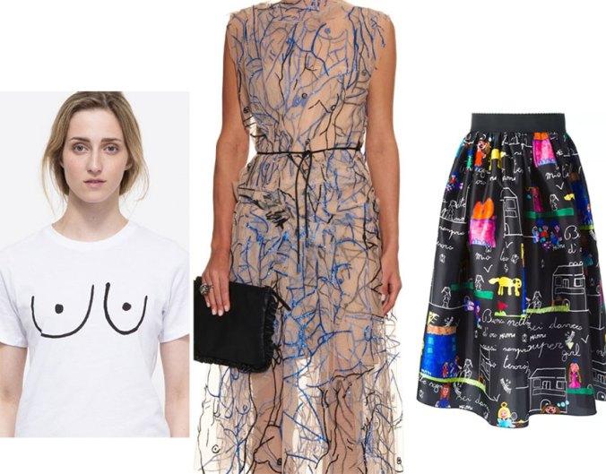 sketch doodle textile prints