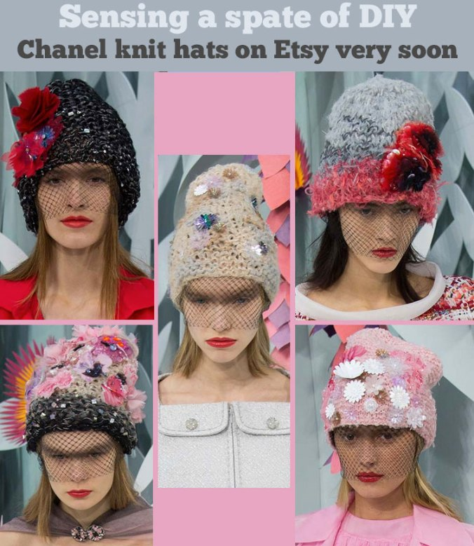 Chanel hats from Spring 2015 Couture Week in Paris