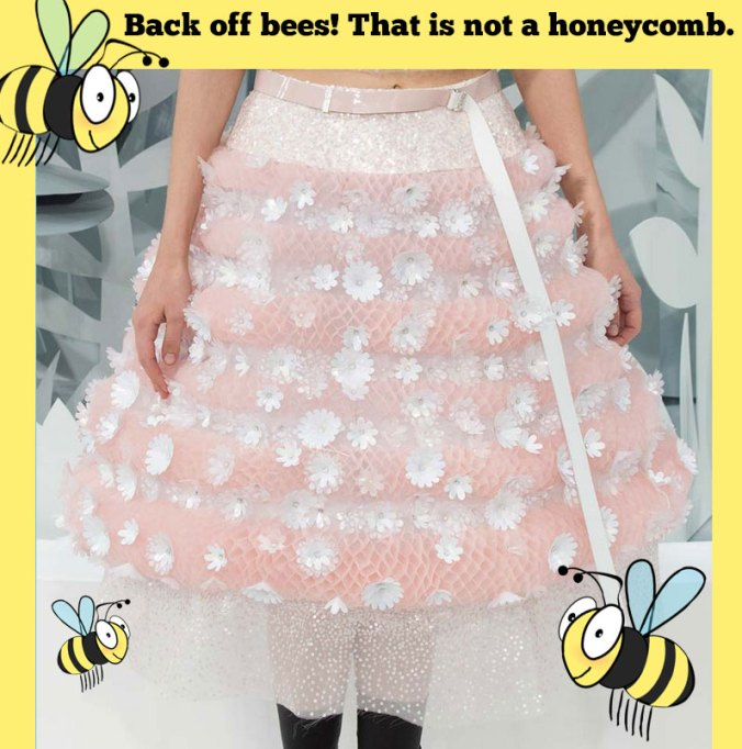 Chanel honeycomb dress for Couture week 2015