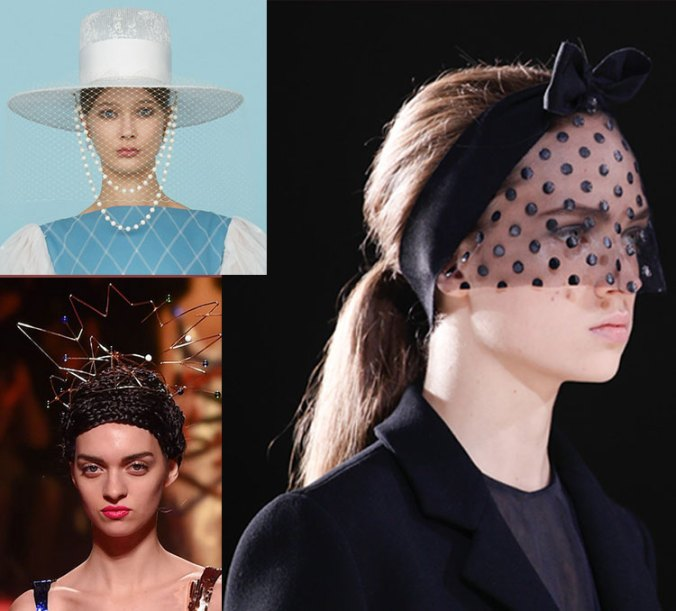 hats and veiled fascinators from Haute Couture Week 2015 in Paris