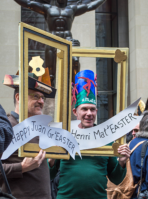 Matisse Frame hat at the Easter Hat Parade NYC