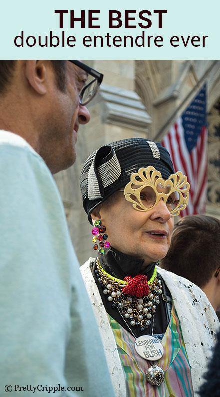 NY Easter hat parade Lesbians for Bush