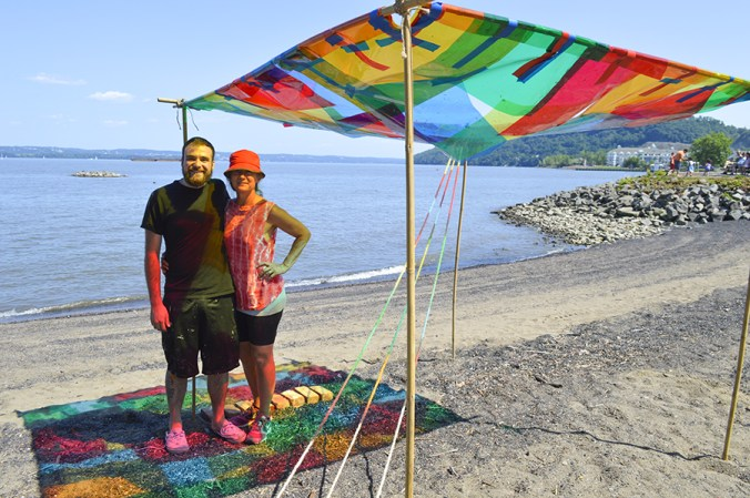 Susan Luss and Richard Vivienzo outdoor sculpture in Emeline Park. They were the winners in our call for artists entry.
