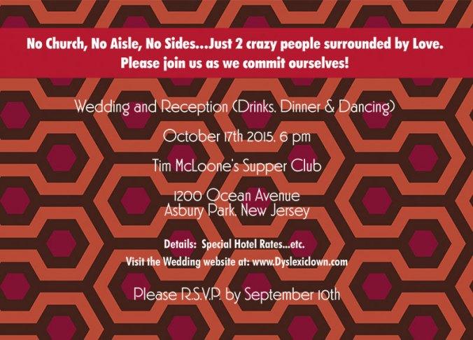 The shining wedding theme invite back