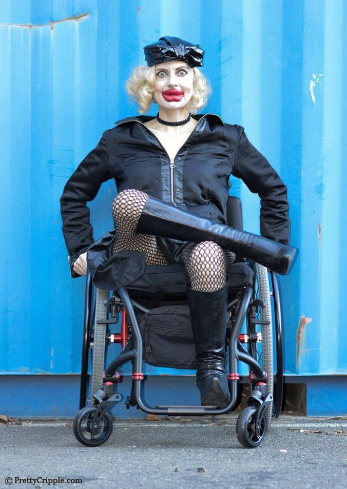 Pretty Cripple as Kylie Jenner in a wheelchair for Interview Magazine Parody #2