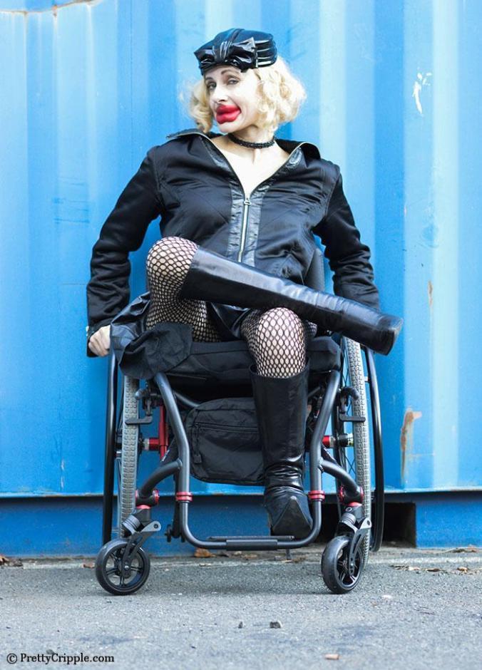 Pretty Cripple as Kylie Jenner wheelchair parody #3