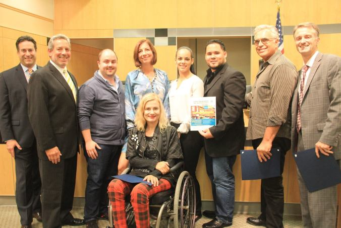 Taste of Haverstraw Committee receiving Special Award from the Rockland County Legislature