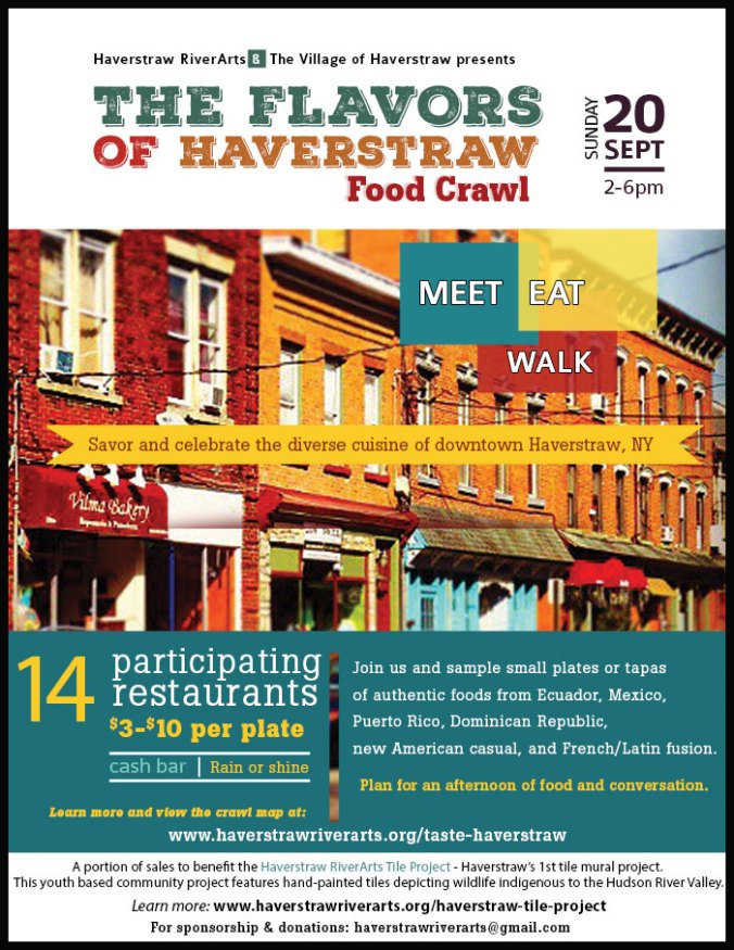 Taste of Haverstraw Food Crawl flyer - NY food crawl