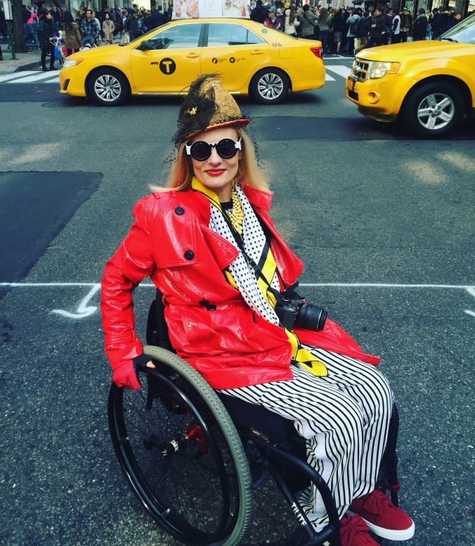 wheelchairblogger hits NYC Easter Day Hat parade 2016