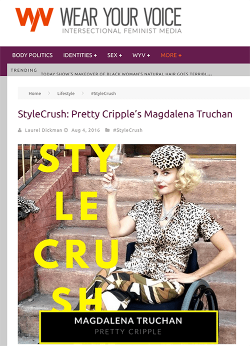 #stylecrush disabled wheelchair fashion blogger