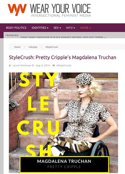 #stylecrush disabled wheelchair fashion blogger