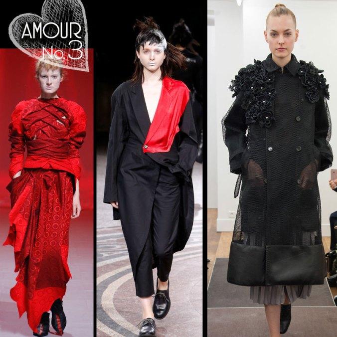 Spring 2017 fashion from Aganovich, Yohji Yamamoto, Noir Kei Ninomiya