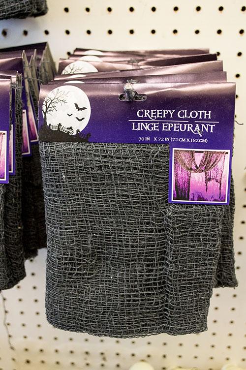 creepy cloth in dollar tree store