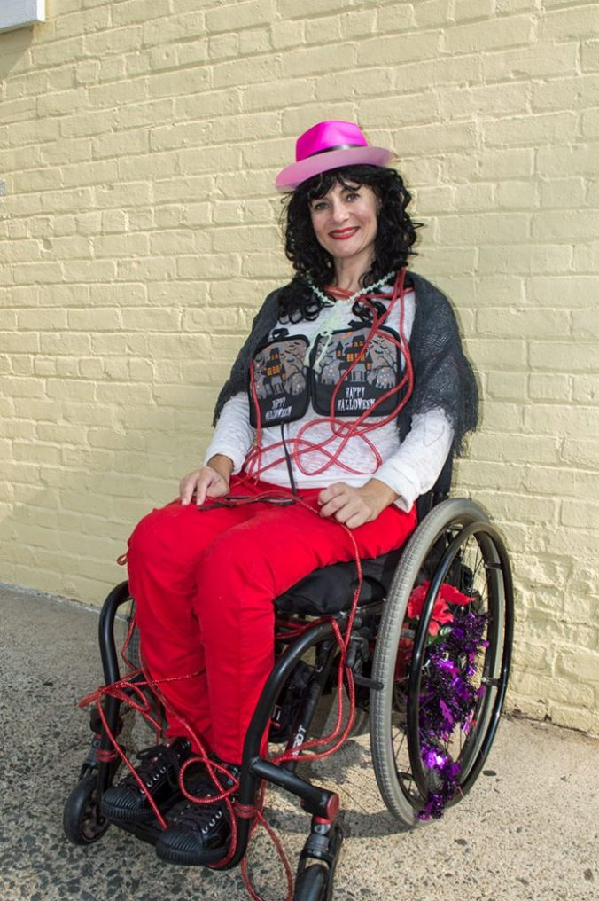 dollar tree halloween wheelchair blogger