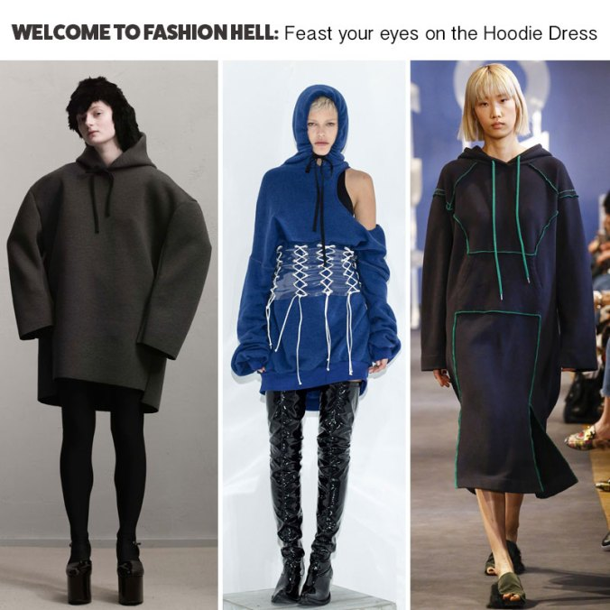 Hoodie Dress Trend Fall 2017