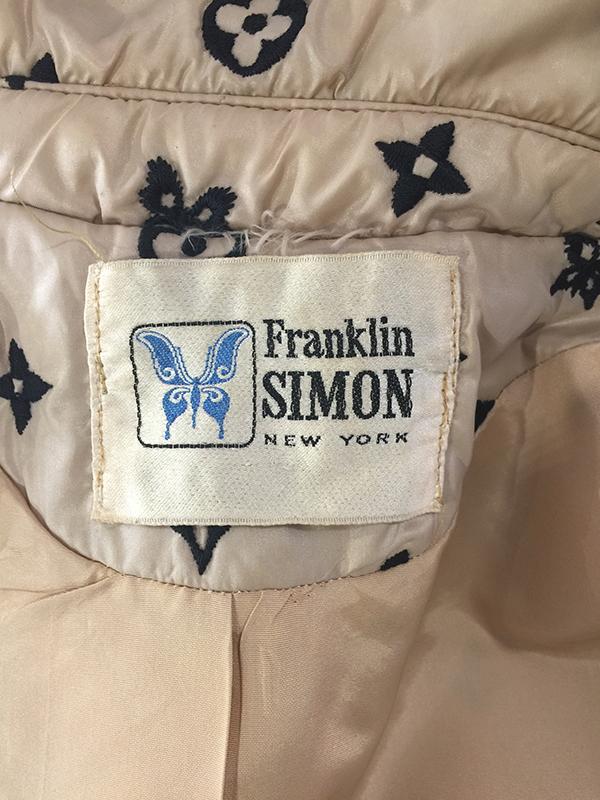 franklin simon vuitton coat label