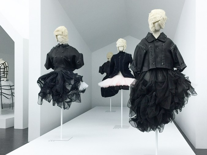 Comme exhibit at the Met - High Low collection