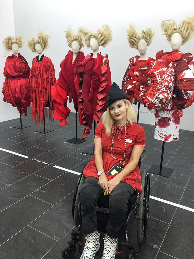 Comme des garcons Met exhibit - pretty Cripple