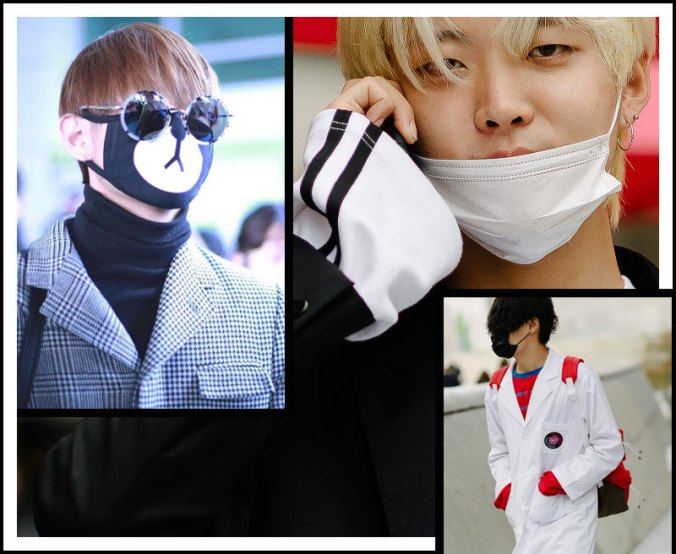 Facemasks trend in Seoul, Korea