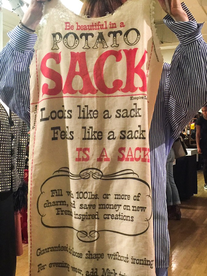 Potato sack dress Manhattan Vintage show