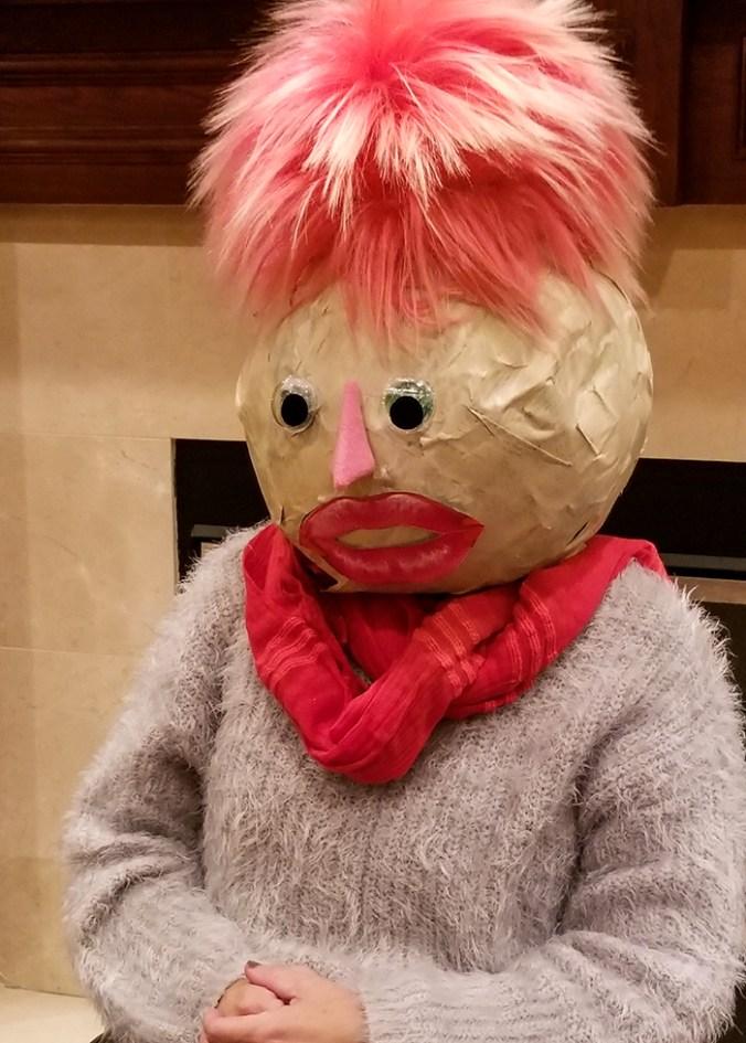 paper mache face head