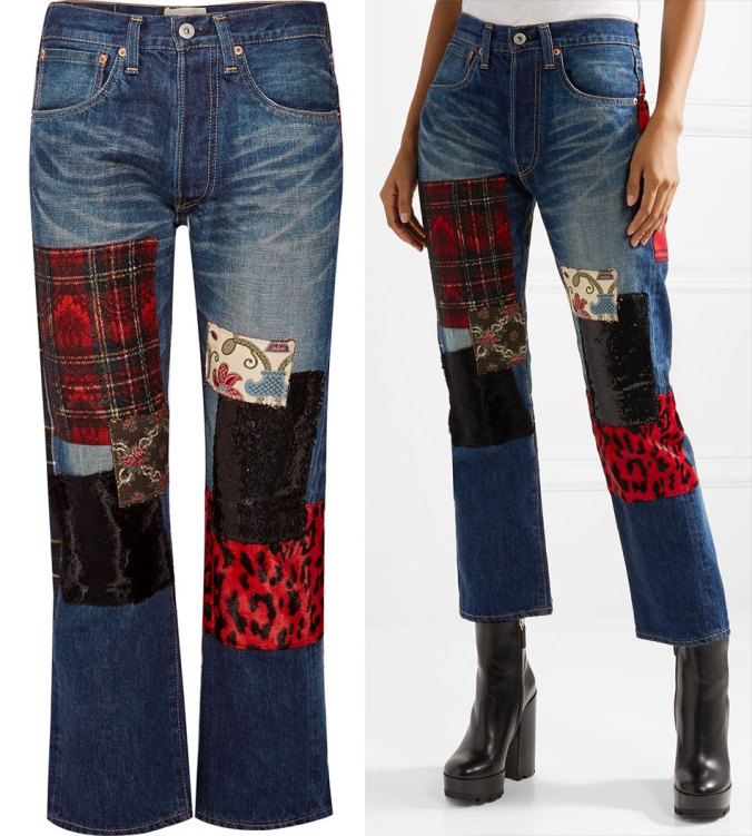 junya watanabe patchwork jeans