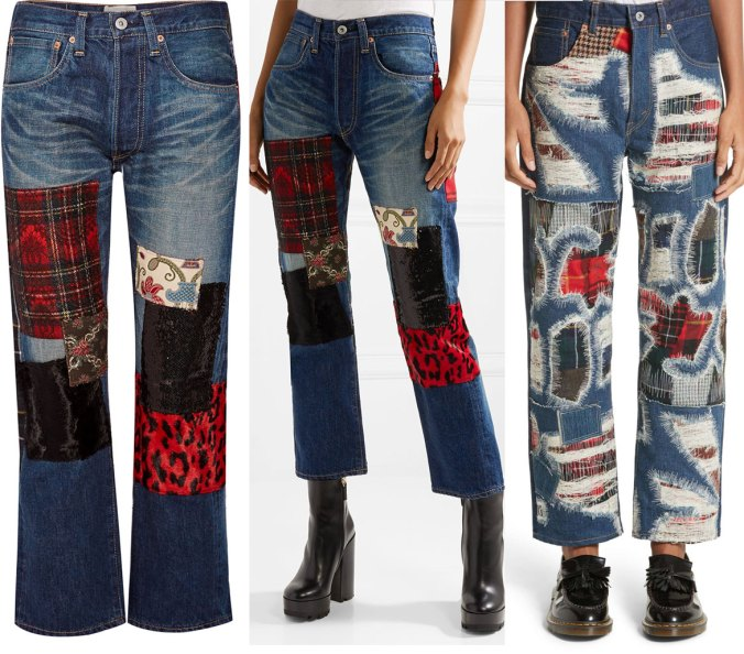 Mother Jeans with patches