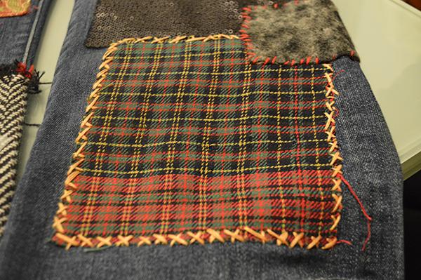 DIY patchwork stitching