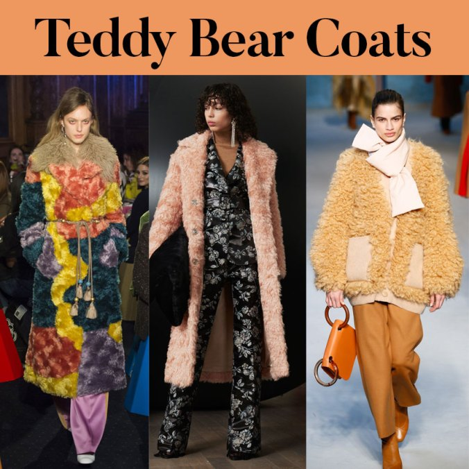 Teddy bear coat trend