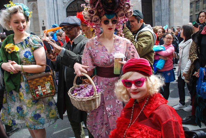 vintage vixens at the NY Easter Hat Parade