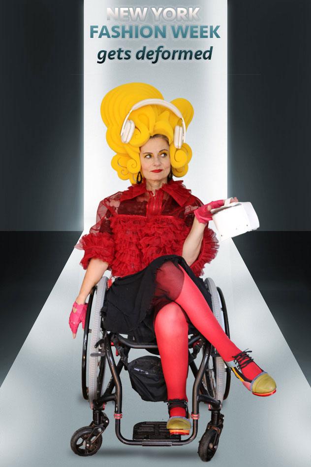 Pretty Cripple on the NY Fashion Week runway
