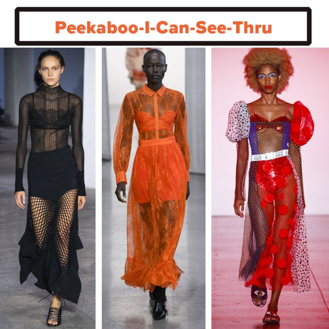 See through transparent dress spring 2019 trend