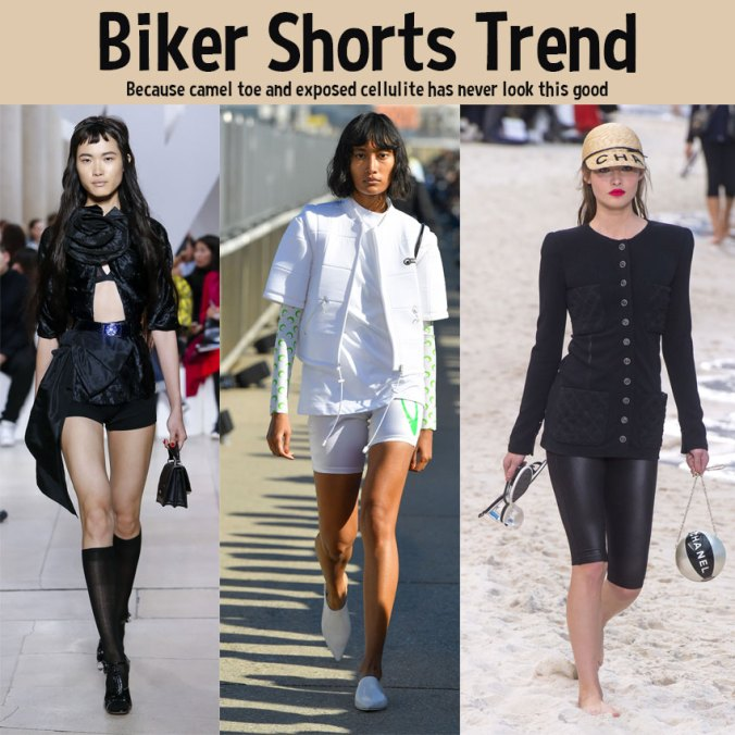 biker shorts trend spring 2019