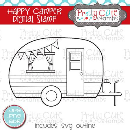pcs happy camper digital