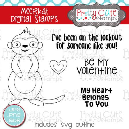 pcs meerkat digital stamp