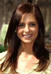 trendy highlights brunette