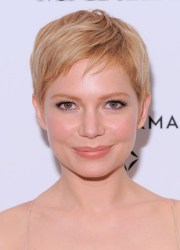 cute short blonde pixie hairstyle