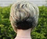 view of stacked bob hairstyle