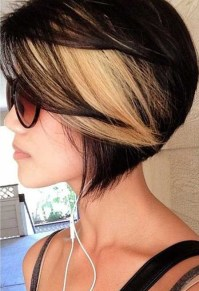 Black Hair with Blonde Highlights for Short Hairstyles ...